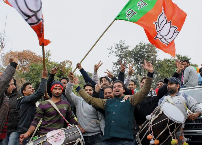 BJP party celebrations in Jammu